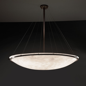 Justice Design CLD-9698 Ring Clouds Ceiling Light Fixture