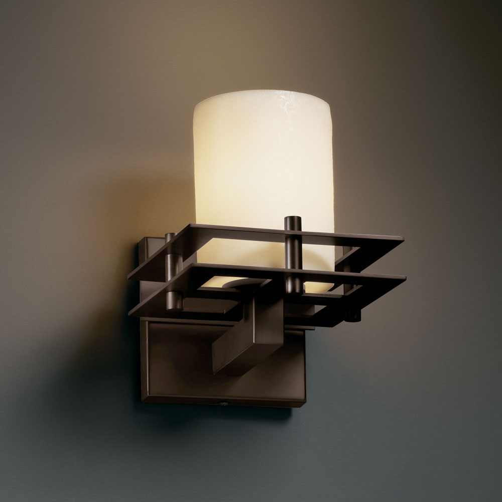 Wall Sconce Faux Candle : Justice Design CNDL-8171 CandleAria Faux Candle 6.5