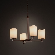 Justice Design CNDL-8420 Tetra CandleAria Mini Ceiling Chandelier