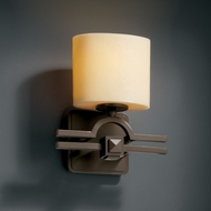 Justice Design CNDL-8507 CandleAria� Faux Candle 9 Wide Wall Sconce Lighting