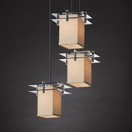 Justice Design FAB-8166 Metropolis Textile Multi Hanging Light