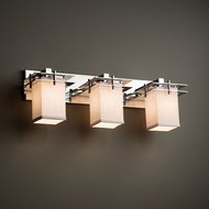 Justice Design FAB-8173 Metropolis Textile 3-Light Bathroom Light