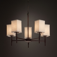 Justice Design FAB-8410 Union Textile Chandelier Lighting