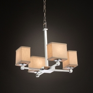 Justice Design FAB-8420 Tetra Textile Mini Lighting Chandelier