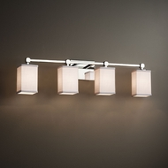 Justice Design FAB-8424 Tetra Textile 4-Light Bath Sconce