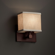 Justice Design FAB-8427 Tetra Textile ADA Compliant Wall Light Sconce