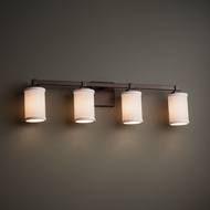 Justice Design FAB-8434 Regency Textile 4-Light Bathroom Vanity Light Fixture