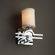 Justice Design FAB-8501 Argyle Textile Wall Lamp