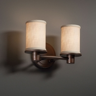 Justice Design FAB-8512 Rondo Textile 2-Light Bathroom Lighting Sconce