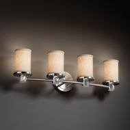 Justice Design FAB-8514 Rondo Textile 4-Light Bath Lighting Sconce