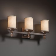 Justice Design FAB-8533 Deco Textile 3-Light Bathroom Lighting
