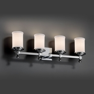 Justice Design FAB-8534 Deco Textile 4-Light Lighting For Bathroom