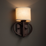 Justice Design FAB-8587 Heritage Textile ADA Compliant Wall Lighting Sconce