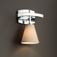 Justice Design FAB-8591 Archway Textile Wall Sconce Lighting