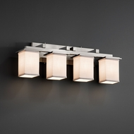 Justice Design FAB-8674 Montana Textile 4-Light Bathroom Vanity Light Fixture