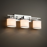 Justice Design FAB-8703 Aero Textile 3-Light Bath Wall Sconce