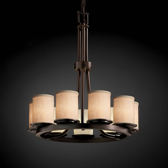 Justice Design FAB-8766 Dakota Textile Mini Lighting Chandelier