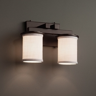 Justice Design FAB-8772 Dakota Textile 2-Light Bathroom Lighting Sconce
