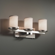Justice Design FAB-8773 Dakota Textile 3-Light Bathroom Sconce Lighting