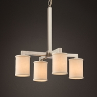 Justice Design FAB-8920 Modular Textile Mini Hanging Chandelier