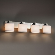 Justice Design FAB-8924 Modular Textile 4-Light Lighting For Bathroom