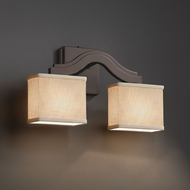 Justice Design FAB-8975 Bend Textile Lighting Wall Sconce