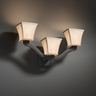 Justice Design FAB-8976 Bend Textile Wall Lighting Sconce