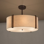 Justice Design FAB-9511 Reveal Textile Drum Drop Lighting