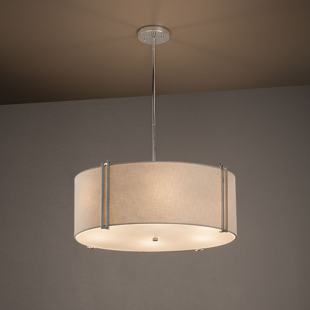 Justice Design Fab 9512 Reveal Textile Drum Drop Ceiling