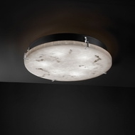 Justice Design FAL-5547 LumenAria� Faux Alabaster 16.5  Wide Flush Lighting