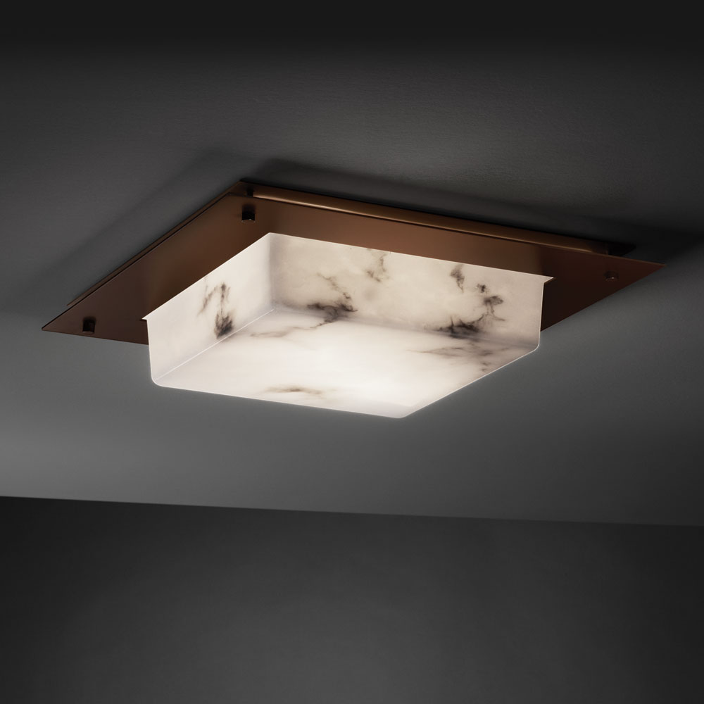 Justice Design FAL 5568 LumenAria™ Faux Alabaster 24u0026nbsp; Wide Flush  Ceiling Light Fixture. Loading Zoom