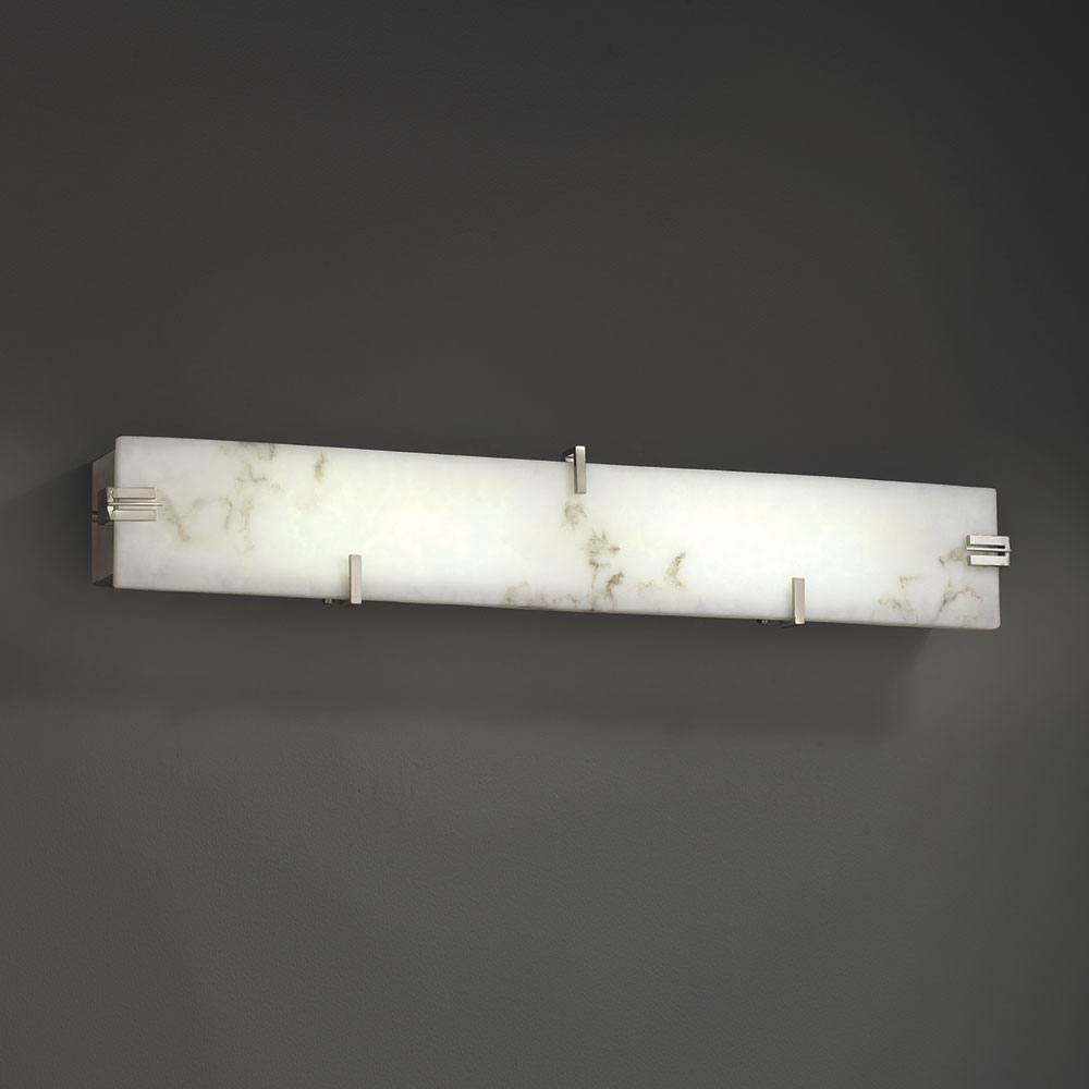 Justice design fal 8870 lumenaria contemporary led for Bathroom vanity lights modern