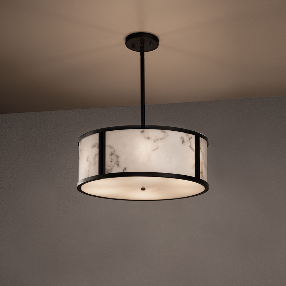 Justice Design Fal 9541 Tribeca Lumenaria Drum Drop