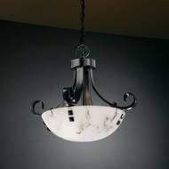 Justice Design FAL-9740 LumenAria� Faux Alabaster 17  Tall Drop Ceiling Light Fixture