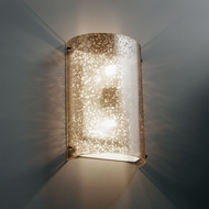 Justice Design FSN-5541 Fusion� Artisan Glass 8  Wide Wall Lighting