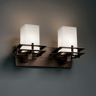 Justice Design FSN-8172 Fusion� Artisan Glass 16.5  Wide Bathroom Lighting Fixture