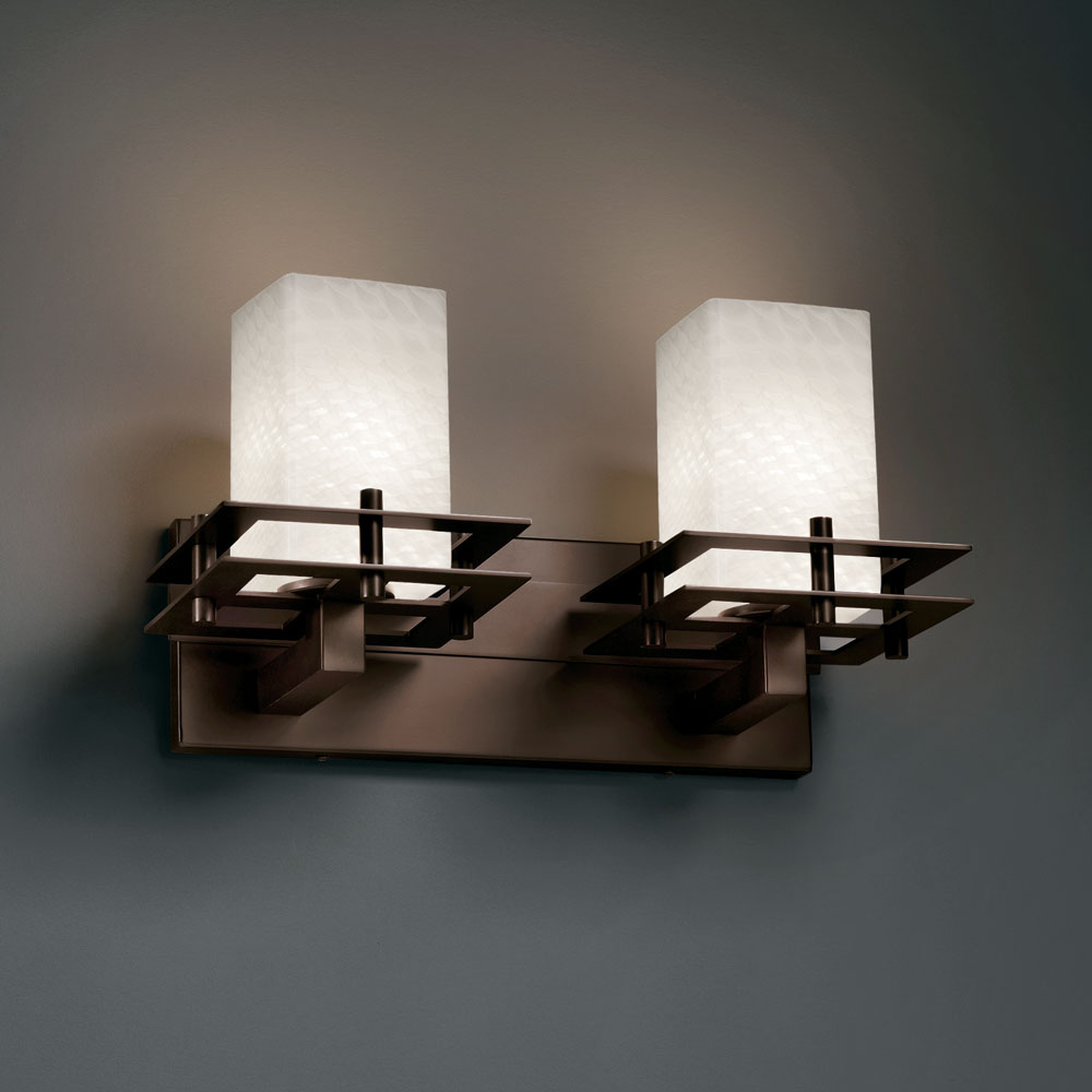 Justice Design Fsn 8172 Fusion Artisan Glass 16 5 Wide Bathroom Lighting Fixture Jus Fsn 8172