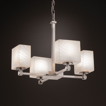 Justice Design FSN-8420 Tetra Fusion Mini Chandelier Light