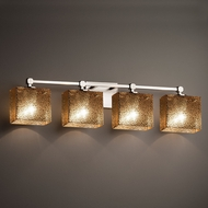 Justice Design FSN-8424 Tetra Fusion 4-Light Bath Lighting Sconce
