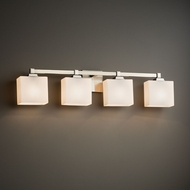 Justice Design FSN-8434 Regency Fusion 4-Light Lighting For Bathroom