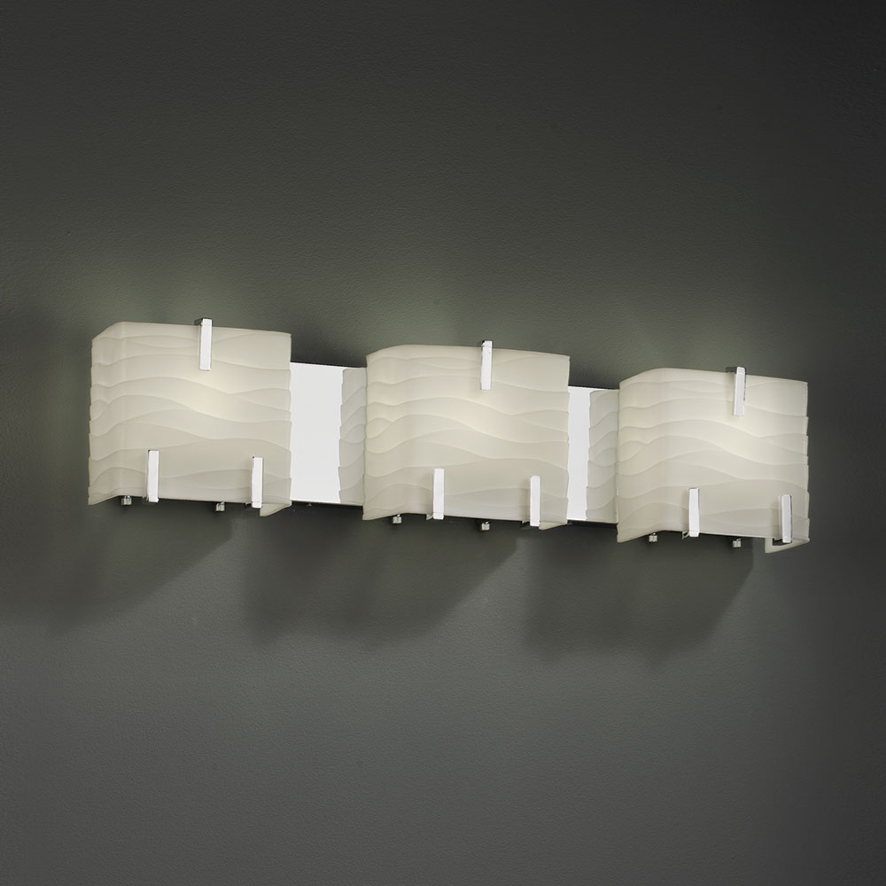 Designer Bathroom Lighting Fixtures justice design pna-8873 porcelina modern 3-light bathroom wall