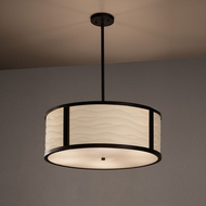 Justice Design PNA-9542 Tribeca Porcelina Drum Pendant Light