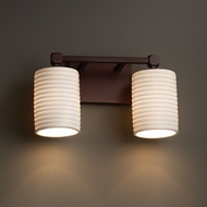 Justice Design POR-8422 Tetra Limoges 2-Light Bathroom Wall Light Fixture