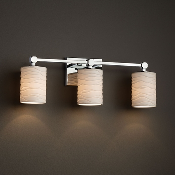 Justice Design Por 8423 Tetra Limoges 3 Light Bathroom Lighting Jus Por 8423