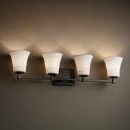 Justice Design POR-8424 Tetra Limoges 4-Light Lighting For Bathroom