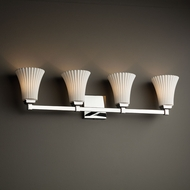 Justice Design POR-8434 Regency Limoges 4-Light Bathroom Light