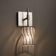 Justice Design WGL-8415 Union Wire Glass Modern Wall Sconce