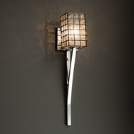 Justice Design WGL-8791 Sabre Wire Glass Modern Sconce Lighting