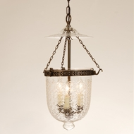JVI Designs 1024 Transitional Style 3 Candle Water Glass Drop Lighting