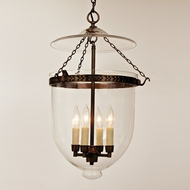 JVI Designs 1027 4 Candle 28 Inch Tall Pendant Hanging Lamp With Finish Options